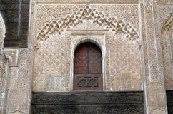 Bou Inania Madrasa w Fes, szczegół wnętrze Obraz Royalty Free