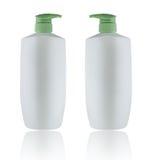 Bouble vitflaskor på Whitebackground Royaltyfri Foto