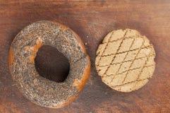 Boublik et biscuit à l'avoine de seigle Photographie stock