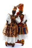 佩带boubou的两个非洲玩偶 库存照片