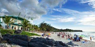 Boucan Canot Beach, Reunion. Boucan Canot Beach in the Reunion island located in the Indian Ocean Stock Image