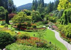 Bouchart trädgårdar, Vancouver ö, F. KR. royaltyfri fotografi