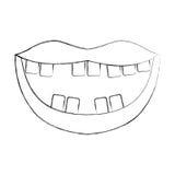 Bouche avec de mauvaises dents Photographie stock libre de droits