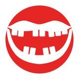 Bouche avec de mauvaises dents Image stock