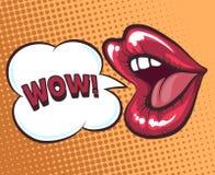 Bouche avec la bulle de la parole illustration stock