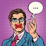 bouche d'homme enregistrée sur bande illustration libre de droits