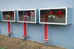 Bouche d'incendie et boîte de tuyau dans le secteur hazadous de la centrale Photos libres de droits
