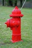Bouche d'incendie rouge Images libres de droits