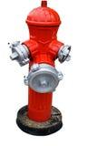 Bouche d'incendie rouge d'isolement Photographie stock libre de droits