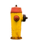 Bouche d'incendie sale avec le chemin de découpage Photos stock