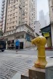 Bouche d'incendie sur la rue en Hong Kong Photo libre de droits