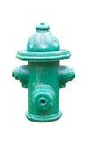 Bouche d'incendie verte Photo libre de droits