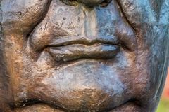 Bouche de Bouddha dans le silence images stock