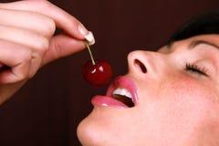 bouche de cerise Photo stock