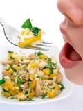 bouche de filles de nourriture photos libres de droits