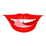 Bouche de sourire illustration de vecteur