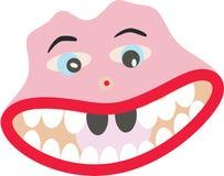 Bouche de sourire de dents de visage pleine Photographie stock