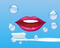 Bouche et pâte dentifrice Images libres de droits