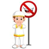 Bouche fermée d'enfant de musulmans illustration libre de droits