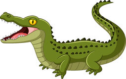 Bouche ouverte de crocodile illustration stock