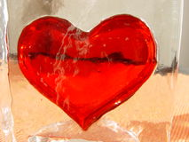 Bouche plate de glace de coeur Photographie stock libre de droits