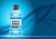 Bouche Rinse Design Cosmetics Product Template pour des annonces ou Magazi illustration libre de droits