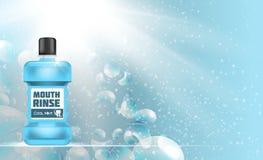 Bouche Rinse Design Cosmetics Product Template pour des annonces ou Magazi Photographie stock libre de droits