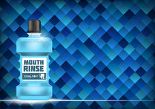 Bouche Rinse Design Cosmetics Product Template pour des annonces ou Magazi illustration stock