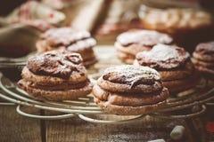 Bouchee шоколадных тортов cream слойки Стоковые Изображения