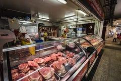 Boucher chez Paloquemao Bogota Colombie Photo stock