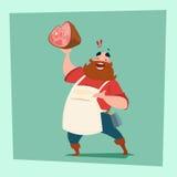 Boucher de porc de Hold Pig Leg d'agriculteur Animal Farm illustration libre de droits