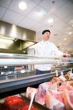 Boucher de viande fraîche Images libres de droits