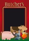 Boucher, fond, carte illustration stock