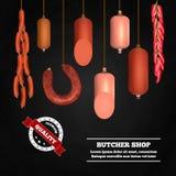 Boucher Shop Realistic Composition illustration de vecteur
