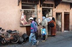 Boucherie en Médina de Marrakech Image libre de droits