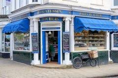 Boucherie traditionnelle dans Leicestershire, R-U photos stock