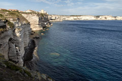 Bouches de Bonifacio. Amazing landscape place in Corsica France Royalty Free Stock Photo