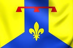 Bouches du罗讷部门旗子,法国 免版税库存图片