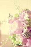 Bouchet delle peonie della sposa Fotografie Stock Libere da Diritti