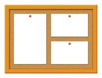 Bouchez le panneau avec l'illustration de notes illustration stock