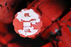 Bouchon de remplissage de pétrole Images stock