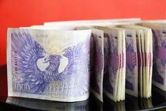 Bouchon des billets de banque tchèques Image libre de droits