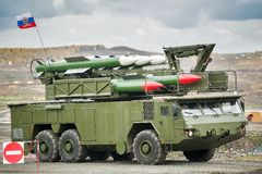 Bouck M2 ziemia-powietrze systemy rakietowi Obrazy Royalty Free
