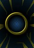 Boucle abstraite avec le réseau d'hexa Photos libres de droits