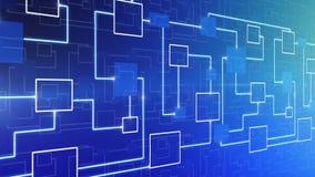 BOUCLE abstraite de fond de circuit électronique de technologie