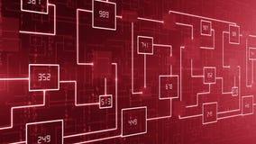 BOUCLE abstraite de fond de circuit électronique de technologie illustration stock
