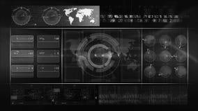 BOUCLE abstraite de fond de technologie sans couleur clips vidéos