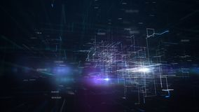 Boucle abstraite de plan de communication clips vidéos