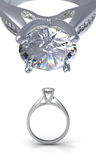 Boucle avec le diamant Images stock