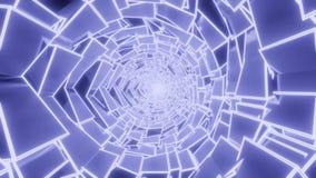 Boucle bleue abstraite de modèle dans 8k et 60fps illustration de vecteur